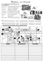 English Worksheet Safety At Home Home Safety Kitchen Safety