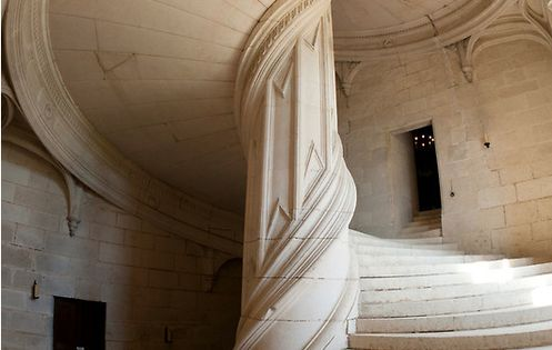 Chateau de la Rochefoucauld Stairway / Photo by Chris Tarling. The grand