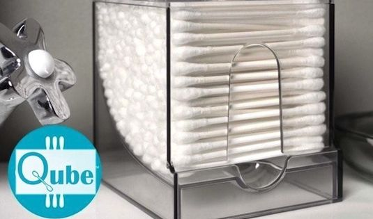 50 Genius Storage Ideas (all very cheap and easy!) Great for organizing and small houses. This is q- Tip greatness