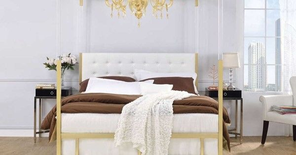 Queen Canopy Bed, The Curated Nomad Quatrefoil Queen Canopy Bed