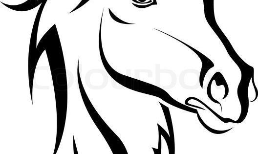 stock vektor von 39 schwarzes pferd silhouette auf wei em