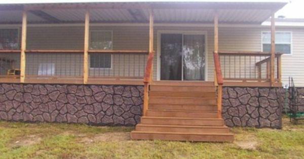 297 best Mobile Home Porches images on Pinterest Porch ideas