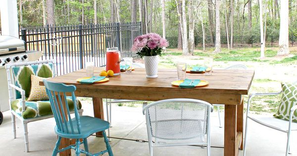 Ana white build a happier homemaker farmhouse table for Homemakers furniture project