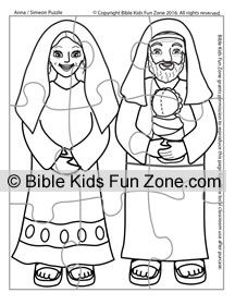 Anna Simeon Puzzle Craft For Kids Sunday School Coloring Sheets