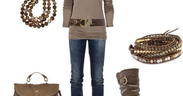 brown on brown fall outfit fall style clothing boots