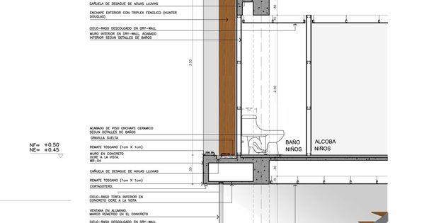 Detalle corte piso techo modulor pinteres for Piso tecnico detalle