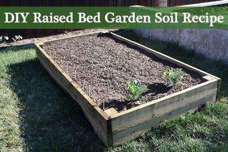 Diy Raised Bed Garden Soil Recipe Garden Soil Backyard