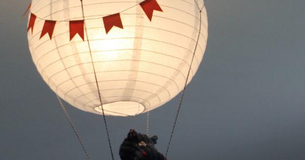 abat jour montgolfi re tuto montgolfi re chambres et abat jour. Black Bedroom Furniture Sets. Home Design Ideas