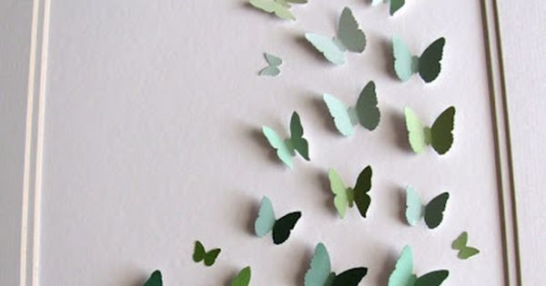 3D Butterfly Art - from recycled paint samples