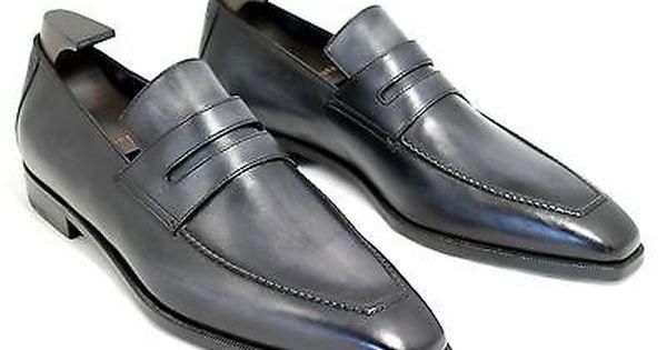 BERLUTI Andy Demesures Anthracite Venezia Leather Classic
