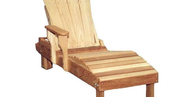 Creekvine designs cedar adirondack chaise lounge chaise for Adirondack chaise lounge plans