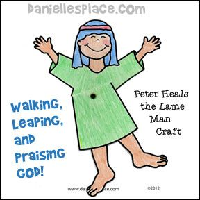 Acts 3 Peter Heals The Lame Man Kids Spot The Difference Sunday