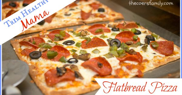 -Carb Flatbread Pizza | Recipe | Trim healthy mamas, Flatbread pizza ...