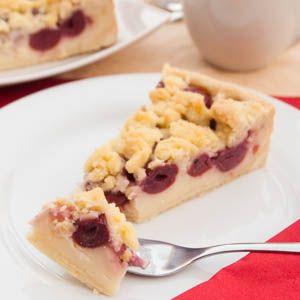 Kirsch Streuselkuchen Mit Pudding Fullung Rezept Streuselkuchen Mit Kirschen Streusel Kuchen Streuselkuchen Mit Pudding