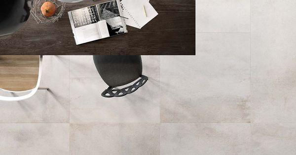 Carrelage aspect b ton brut tr s contemporain de couleur for Carrelage 90x90 blanc