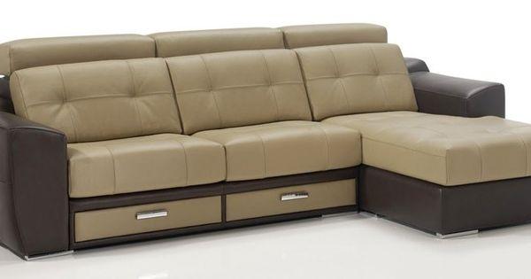 Sof chaiselongue 310 cm con 2 cajones de almacenamiento - Sofas con cajones ...