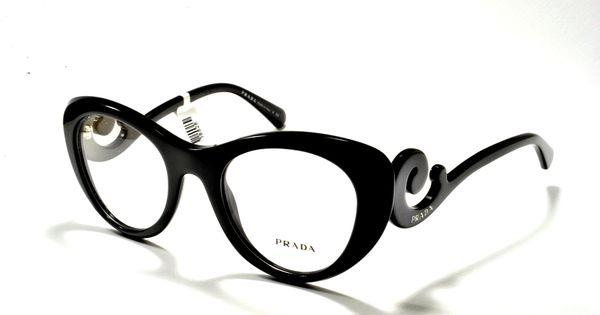 Prada Women S Eyewear 06qv 1ab1o1 49 Black Cat Eye Baroque