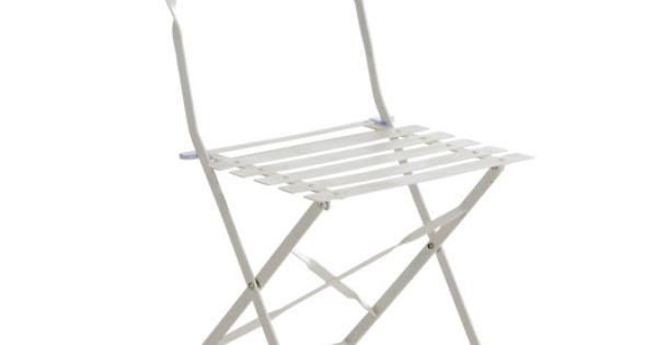 Chaise De Jardin En Acier Flore Blanc Chaise De Jardin Chaises De Cafe Chaise