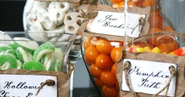 halloween candy jars ideas | Halloween Party Ideas
