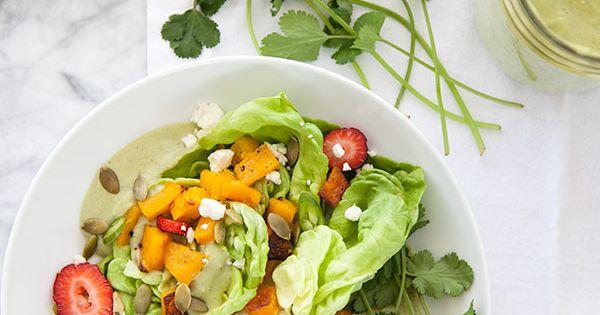 Avocado dressing, Lettuce salads and Butternut squash on Pinterest