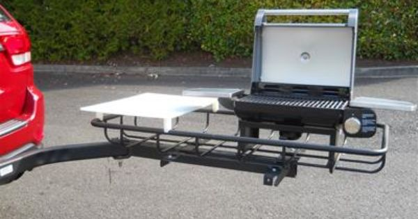 Trailer Hitch Grill Station Stowaway2 Com Tailgate Grilling Tailgate Cargo Carriers
