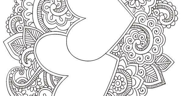 heart mandala coloring pages m larbilder pinterest. Black Bedroom Furniture Sets. Home Design Ideas