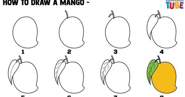 How To Draw A Mango For Kids With Images Drawing For Kids