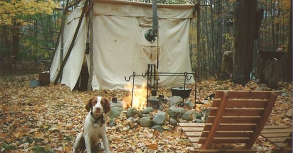 ...have always coveted an old-school canvas tent, and someone to go winter