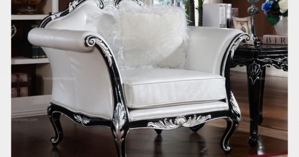 Neoclassical Style Comfortable Armchair MelodyHomecom
