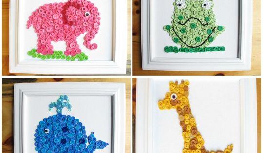Con los ni os podemos hacer cuadros con botones de colores - Como hacer cuadros con botones ...