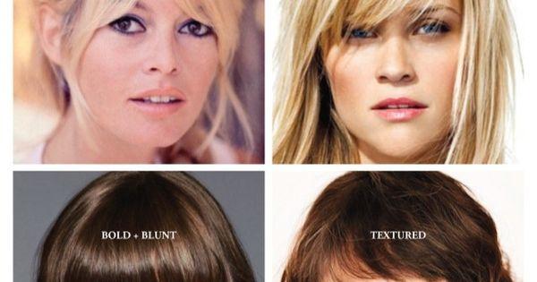 Bangs By Face Shape Hair Cut Ideas Hair Cuts And Face