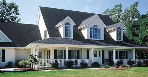 Houses with wrap around porches see we have a long way for Cape cod floor plans with wrap around porch