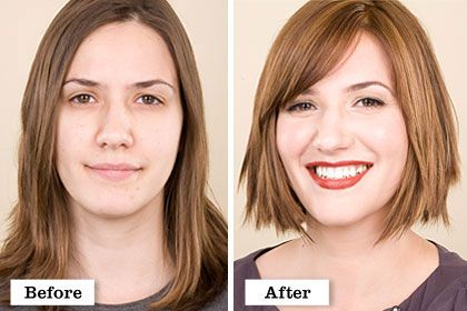 Real Women Makeover Hall Of Fame Hair Makeover Hair Transformation Before And After Haircut