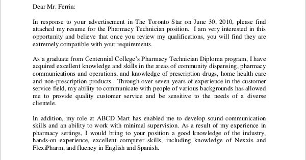 example cover letter samples word pdf pharmacy assistant hospital - please find attached my resume