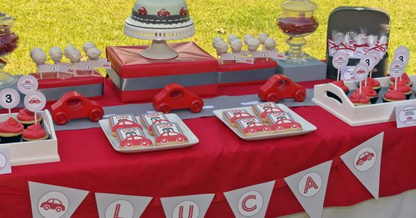 Little Red Car Birthday Party | Project Nursery