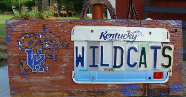 Uk Basketball: Kentucky Wildcats UK College License Plate Man Cave Sign