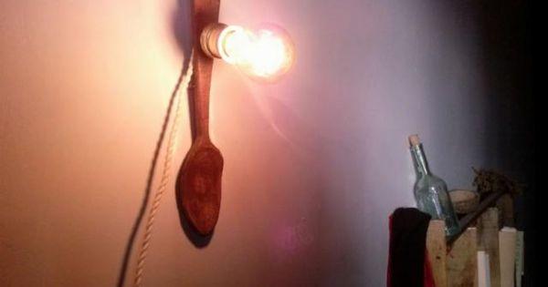 L mpara de pared con encanto estilo r stico l mparas de - Lamparas estilo rustico ...