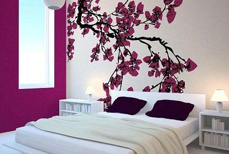 Me encantan los murales adhesivos para decorar las paredes for Adhesivos pared dormitorio