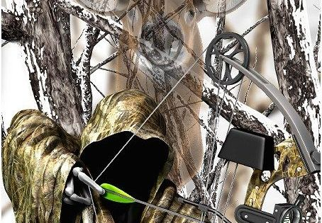 Grim Reaper Bow Hunting Deer Snow Camouflage Cornhole Game