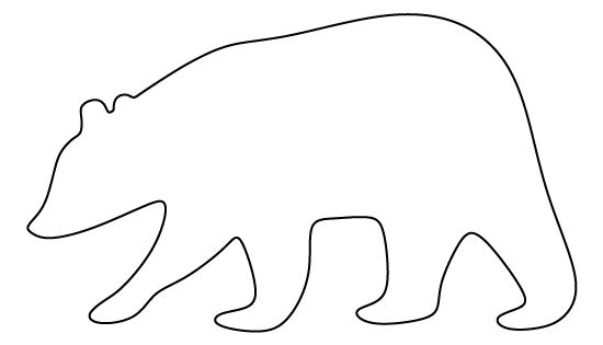 brown bear pattern use the printable pattern for crafts