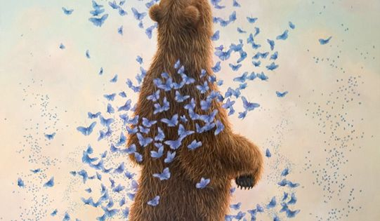 Video chat about Bears, Bunnies & Butterflies: Imaginative Paintings by Robert Bissell