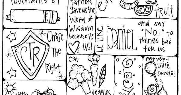 Word of Wisdom coloring Page for