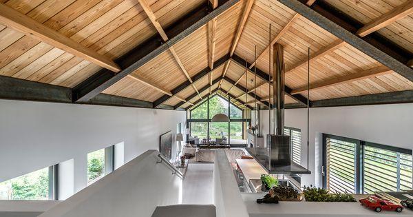 201109 schuurwoning architectuurstudio ska nieuwbouw pinterest huizen architectuur en - Blootgestelde balken ...