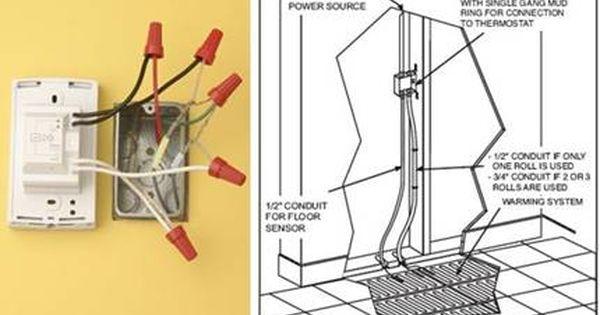 Wiring An Electric Floor Heating System Floor Heating Systems Thermostat Installation Heating Systems
