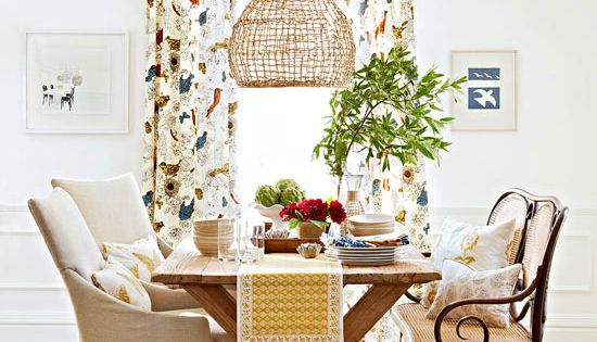 Small Space Cottage Tour Dining Rooms Casual And Curtains