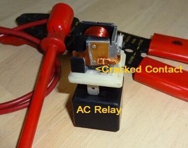 A Bad Car Ac Relay Stops The Compressor From Working Car Air Conditioning Relay Auto Repair