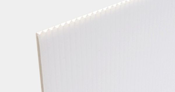 Null 24 In X 36 In White Corrugated Twinwall Plastic