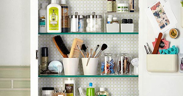 Organize your medicine cabinet medicine cabinet organization bathroom medicine cabinet and - Make cabinet scratch extra storage space ...