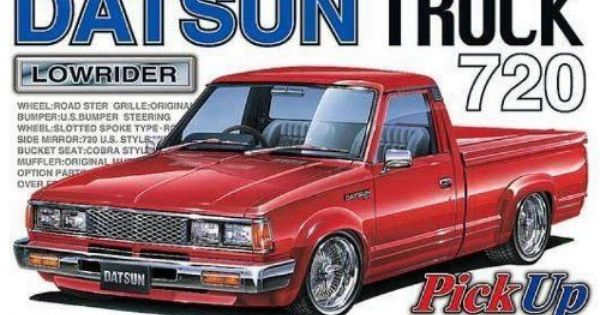 Datsun Pick Up Truck 720 Lowrider Plastic Model 1 24 Nissan