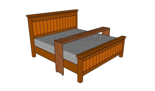 Rolling Bed Table Plans Bed Table Bed Table On Wheels Rolling Bed